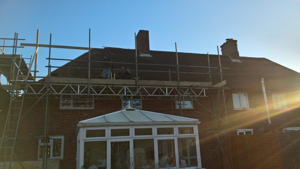 Early Stage loft conversion - Rear Garden View